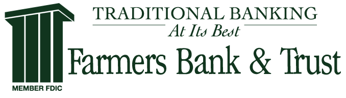 Farmers Bank & Trust Logo - Click here to return to home page