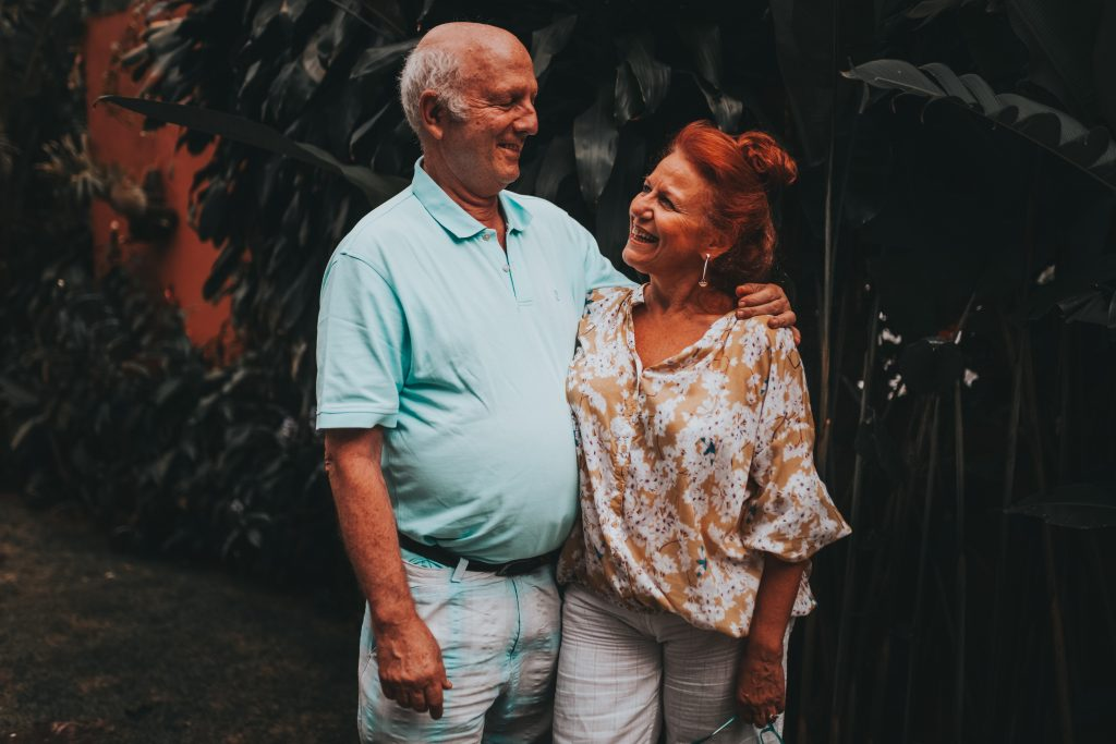 couple smiling at one another