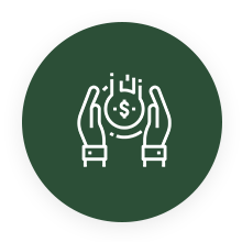 icon of hands and money
